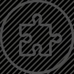 business, creative, idea, piece, puzzle, solution icon