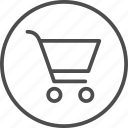 basket, cart, retail, shopping, trolley icon