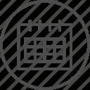 calendar, date, reminder icon