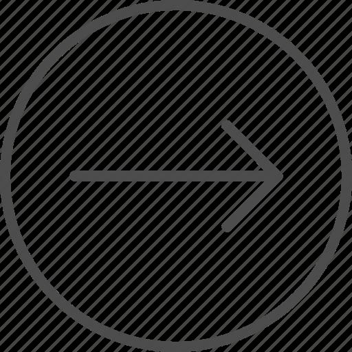 arrow, forward, move, right icon