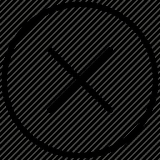 cancel, close, closed, delete, exit, remove icon