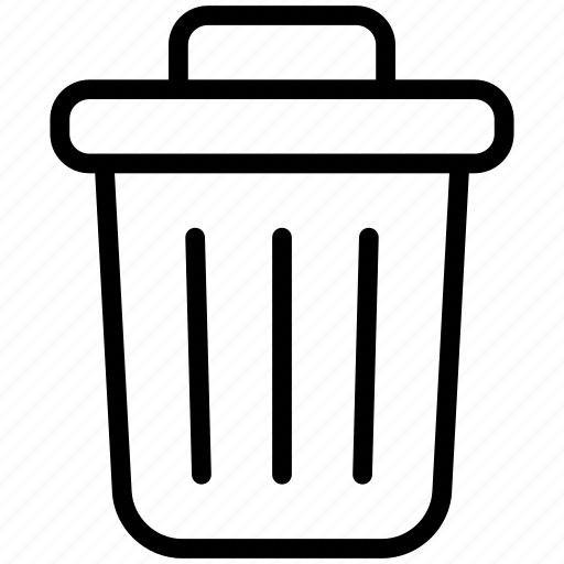 bin, delete, garbage, recycle, recycle bin, remove, trash icon