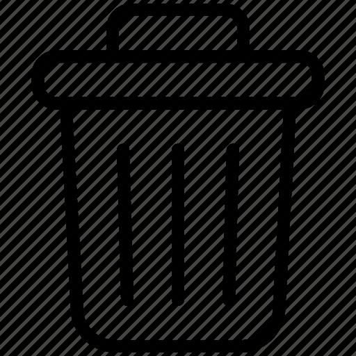 bin, delete, garbage, recycle, recycle bin, remove, trash icon