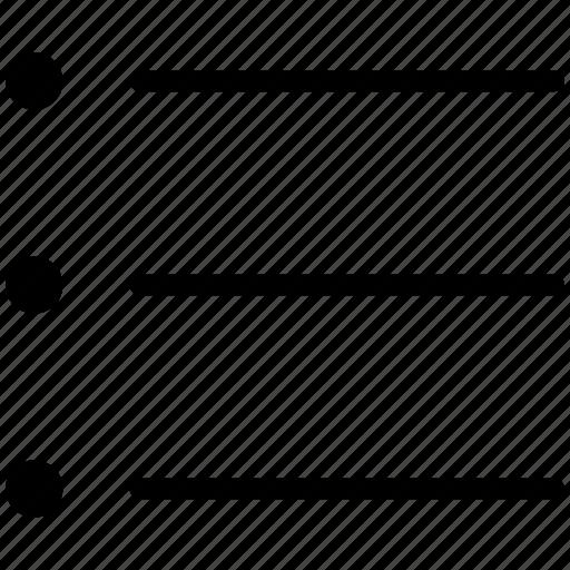 bullets, checklist, list, menu, view icon