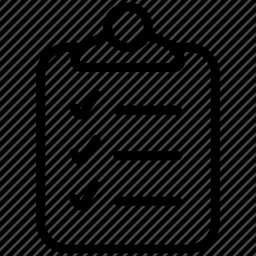 approved, checklist, clipboard, list, report, tasklist, ticks icon