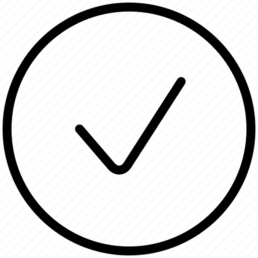 accept, approved, check, good, ok, success, tick icon