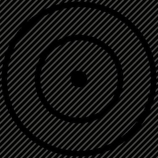 aim, direction, focus, goal, navigation, target icon