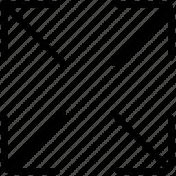 arrows, expand, expand arrows, navigation icon