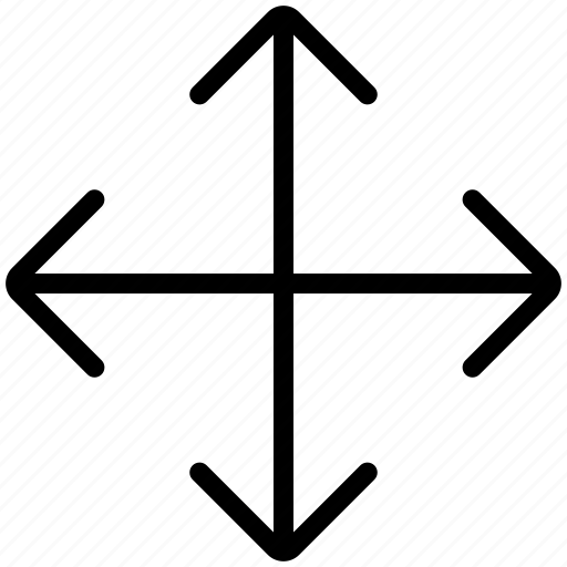 arrows, expand, extend, resize, size icon