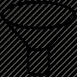 descending, filter, filters, funnel, sort, sorting icon