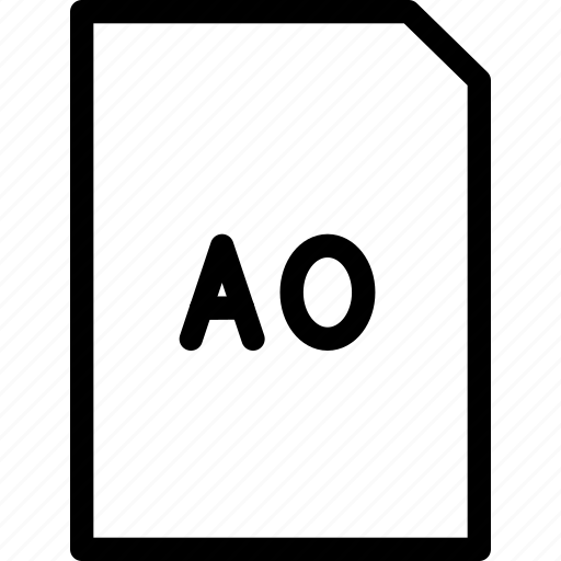 A0, dimension, paper, size icon - Download on Iconfinder