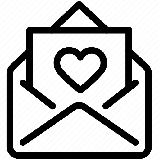 email, envelope, letter, love, mail icon