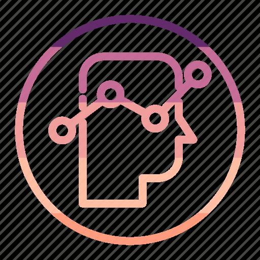 diagram, graph, head, idea, mind, thinking icon