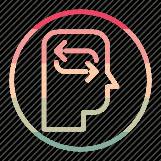head, idea, mind, refresh, reload, thinking icon