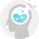 head, human, mind, research, science, test, tube icon