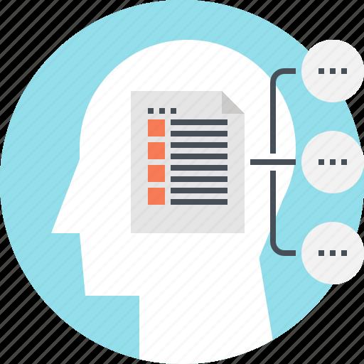 head, human, mind, plan, scheme, strategy, thinking icon
