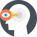 brain, brainstorm, eye, head, idea, view, vision icon