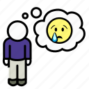 emoji, emotion, man, sad, sadness, tears, unhappy icon