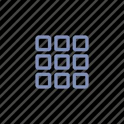 keyboard, menu, rubik's cube, square, tile icon