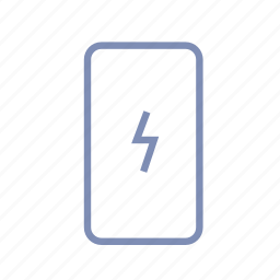 battery, charging, device, energy, lightning, phone, power icon