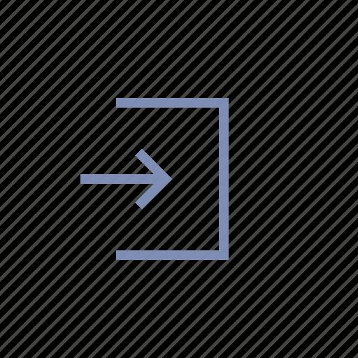 back, continue, enter, exit, login, next, return icon