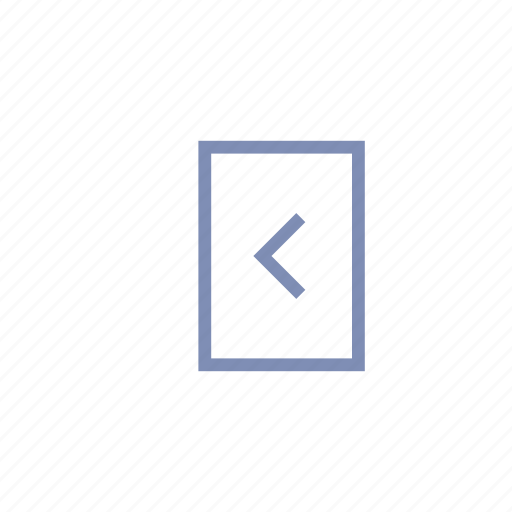 back, enter, exit, login, previous, return icon
