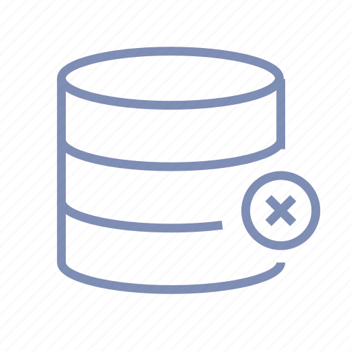 data, database, delete, not available, storage icon