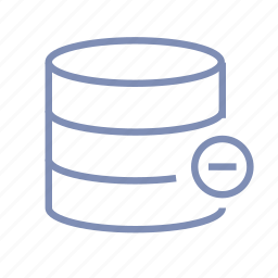 data, database, delete, not available, server, storage icon