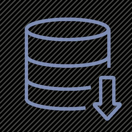 data, database, development, download, server, storage, web icon