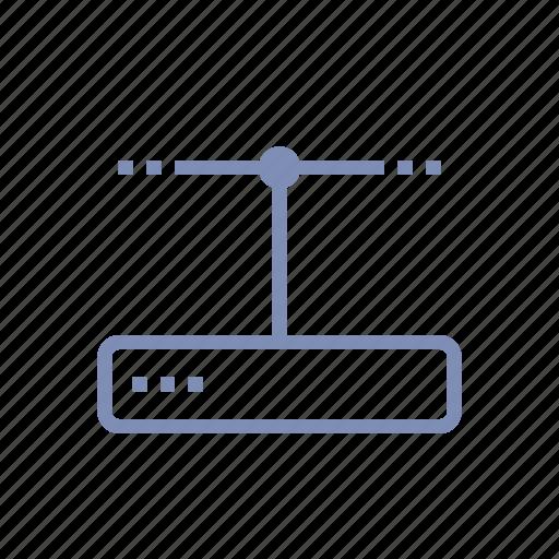 data, database, modem, router, server, storage icon