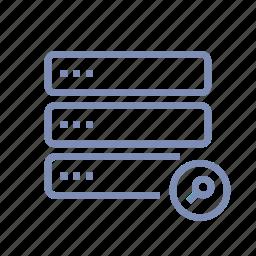 data, database, search, server, storage icon