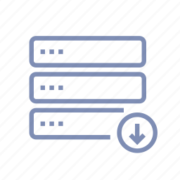 data, database, download, server, storage, upload icon