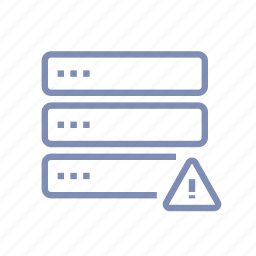 damage, data, database, not available, server, storage icon