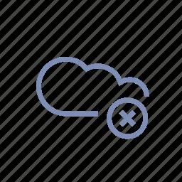 cloud, data, delete, server, storage icon