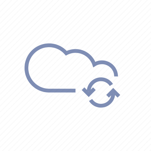 cloud, connection, data, server, storage, sync, update icon
