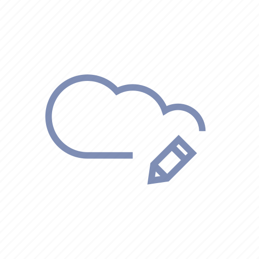 cloud, data, edit, server, storage icon