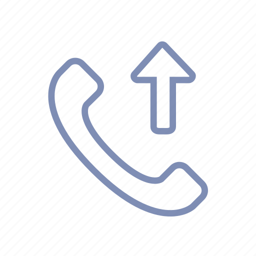 call, communication, connection, handset, outgoing, phone icon
