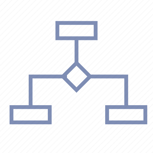 algorithm, diagram, flow, flowchart, scheme, screenplay icon