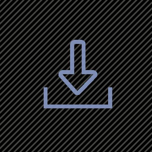 arrow, down, download, inbox, receive icon