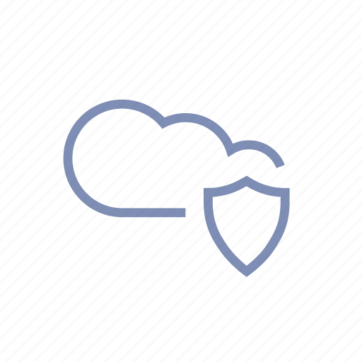 cloud, drive, firewall, guard, protection, safety, shield icon