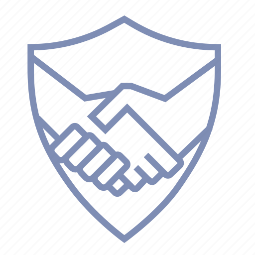 deal, firewall, guard, handshake, protection, safety, shield icon