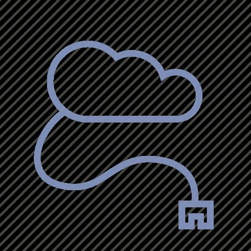 cloud, connect, drive, flash drive, net, storage icon