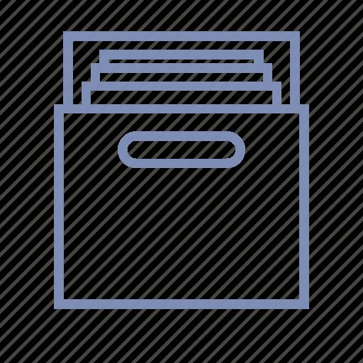 archive, catalog, document, file, folder icon