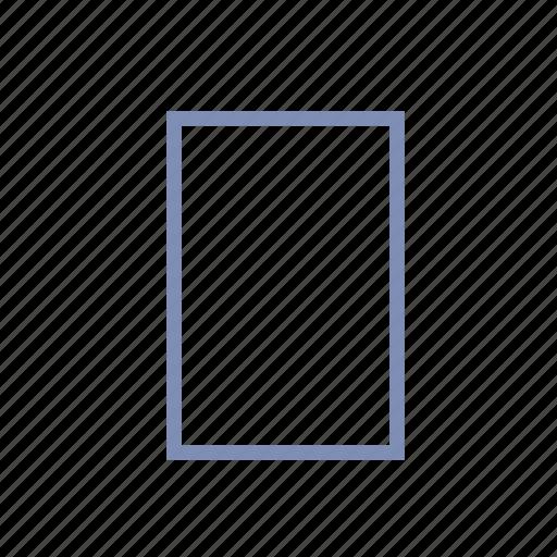 empty, field, monitor, screen, sheet icon