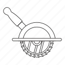 blade, circular, electric, industry, line, outline, saw icon