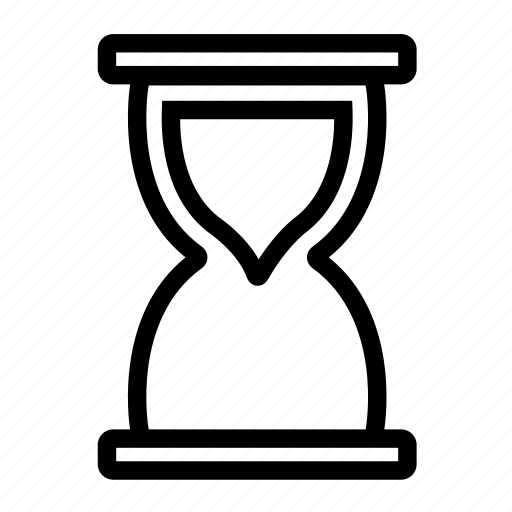 hourglass, time, timer icon