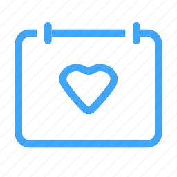 calender, envelope, favorite, heart, like, mail, message icon