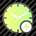 add, alarm, clock, plus, time, watch