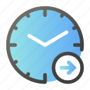 alarm, arrow, clock, right, time, watch