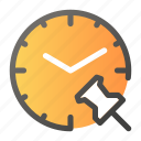alarm, attachment, clock, link, time, watch icon